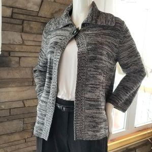 Karen Scott -  Black/Gray Sweater